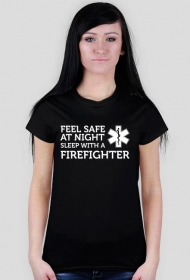 Feel safe at night sleep with a firefighter White