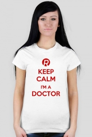 Keep calm I'm a doctor Red