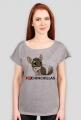 Damska koszulka I love chinchillas