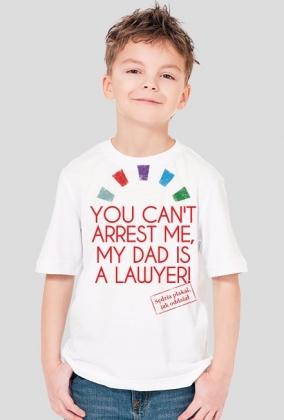 Koszulka chłopięca - tata prawnik