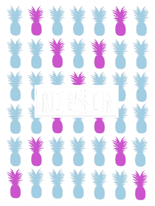 Rob$on - Kolorowe Ananasy - Czarna Bluzka Damska 2.0
