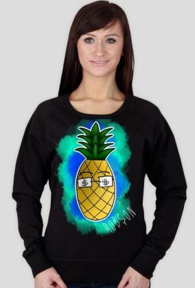 Ananas - Czarna Bluzka Damska