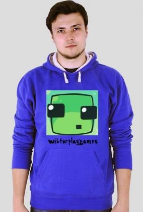 Slime minecraft by WiktorPlayGames - Bluza dla mężczyzn :D