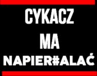 """Bluza KRSN """"Cykacz ma napier#alać"""" Męska"""