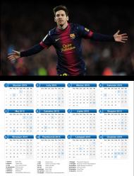 Kalendarz MESSI 2015