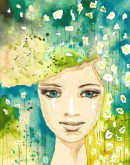 zielona dziewczyna