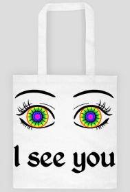 I see you! Biała torba