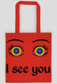 I see you! Czerwona torba