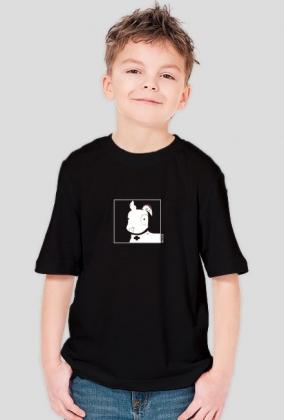 TShirt Pies Max B/W (Chłopiec) Czarna
