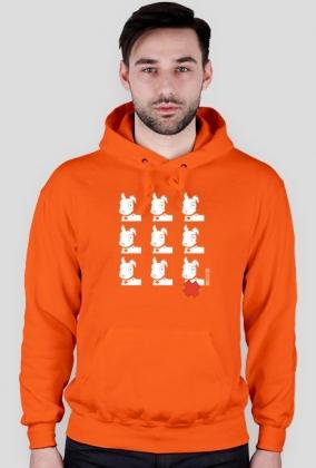Bluza Pies Max 3x3 B/W (M) Pomarańczowa z kapturem