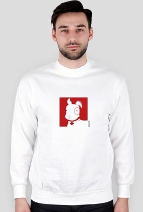 Bluza Pies Max (M) Biała