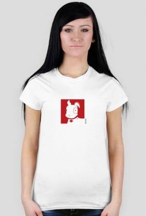 TShirt Pies Max (K) Biała