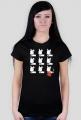 TShirt Pies Max 3x3 B/W (K) Czarna