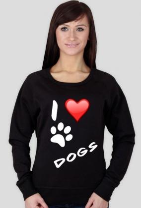 I LOVE DOGS BLACK T-SHIRT