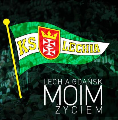 Koszulka Lechia Gdańsk Moim Życiem (czarna)