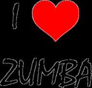 Damski Oversize - I Love ZUMBA