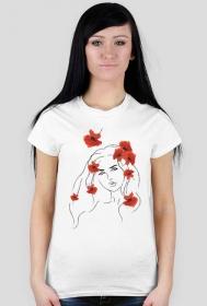 """koszulka """" kobieta w makach"""""""