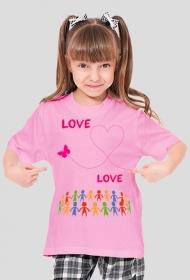 """Koszulka """"love"""""""