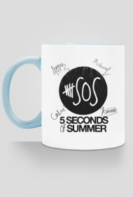 Kubek 5SOS with autographs