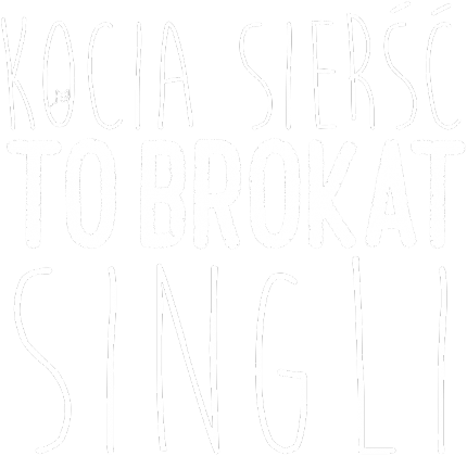 Kocia sierść to brokat singli. (black)