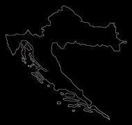 Koszulka Mapa Chorwacji