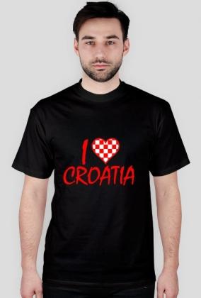 Koszulka I Love Croatia