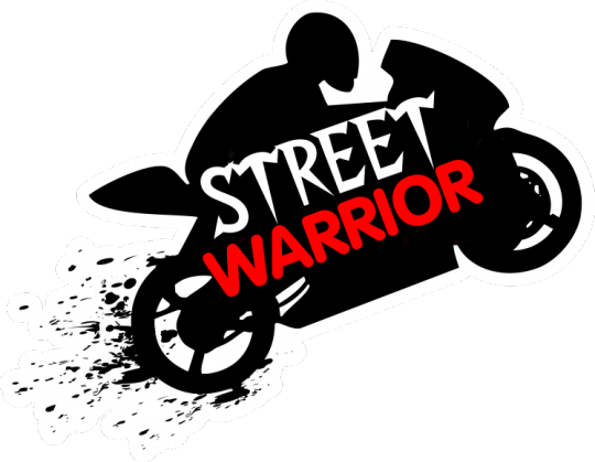 street warrior bluza czarna motocykl