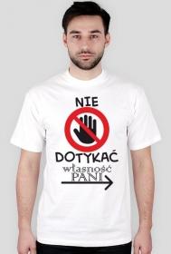 Koszulka na dzień chłopaka - Nie dotykać