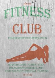 Vintage Fitness Club - PLAKAT