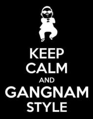 KEEP CALM AND GANGNAM STYLE BLACK