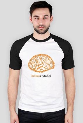 Koszulka męska Mózg czytelnika (model baseball)