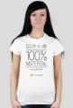 Koszulka damska 100% materiał na czytelnika