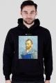 Bluza męska PiktoGrafiki - Van Gogh (wersja czarna)