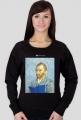Bluza damska PiktoGrafiki - Van Gogh (wersja czarna)