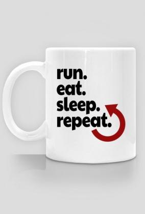 Kubek dla biegacza. Biegowy plan dnia.