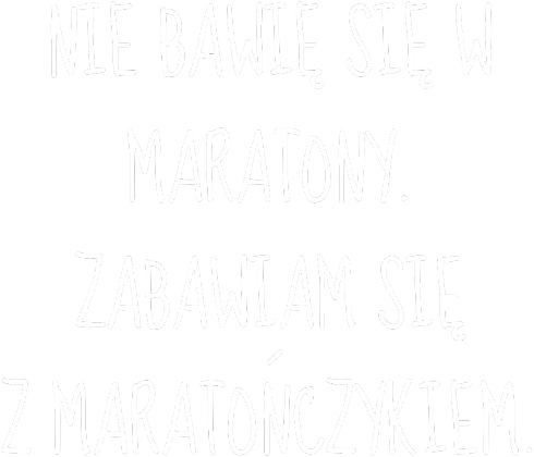 Koszulka dla kibicki maratończyka. (czarna)
