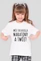 """Koszulka dziewczęca """"Mój tata biega maratony."""""""