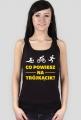 Koszulka dla triatlonistki. Co powiesz na trójkącik? (czarna)
