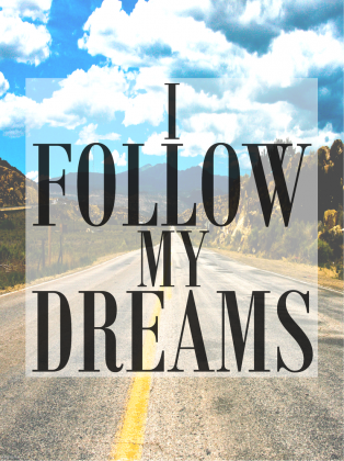 I FOLLOW MY DREAMS #SWAG BLOUSE