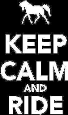 keep calm - Bluza damska czarna