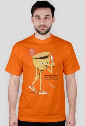 Boys don't cry - t-shirt granatowy - skosztuj.to