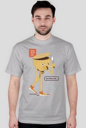 Boys don't cry - t-shirt szary - skosztuj.to