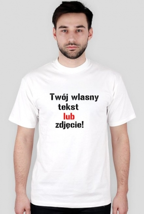 26e713152 Koszulka z własnym nadrukiem lub zdjęciem - koszulki męskie w ...