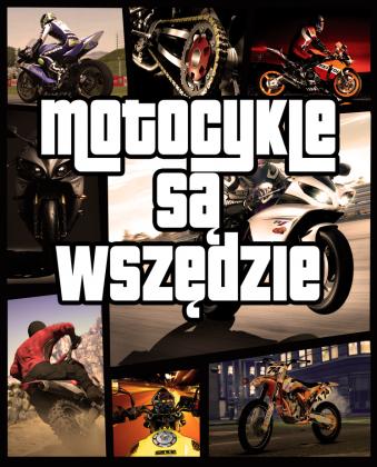 Motocykle są wszędzie GTA - męska koszulka motocyklowa