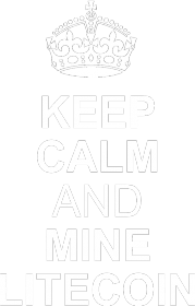 keep calm and mine litecoin (czarna)