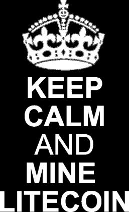 DAMSKA- keep calm and mine litecoin (zielona)