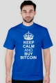 keep calm and buy bitcoin (niebieska)