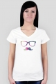 Koszulka damska wąsy