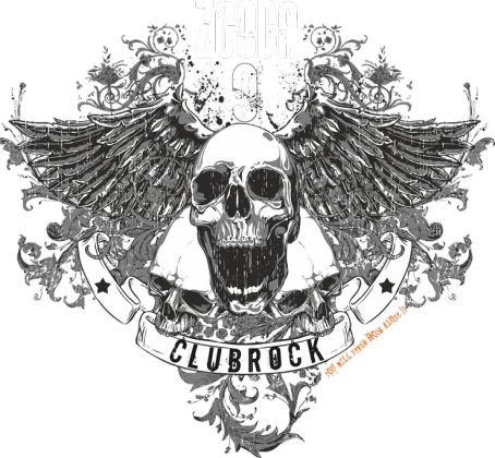 ClubRock Skull Hoodie Babe v2 Zgoda 9