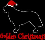 Świąteczny kubek z czerwonym uchem - Golden Retriever